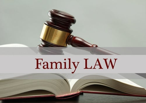 A Picture Of A Judges Gavel Laying On A Book With The Words Family Law Written Across The Front